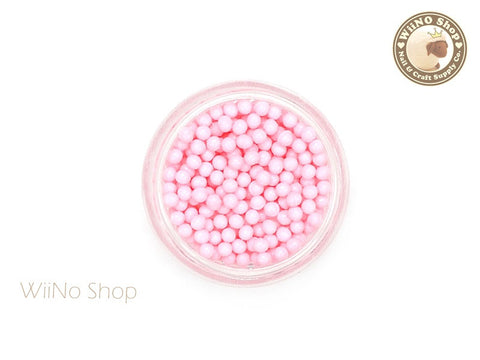 1.5mm 2mm Pink Candy Beads 3D Nail Art Decoration
