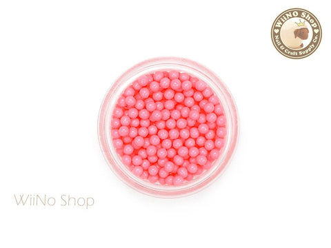 1.5mm 2mm Coral Candy Beads 3D Nail Art Decoration