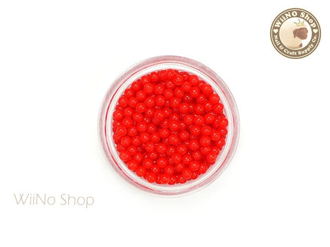 1.5mm 2mm Red Candy Beads 3D Nail Art Decoration