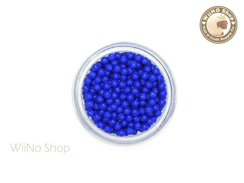 1.5mm 2mm Royal Blue Candy Beads 3D Nail Art Decoration