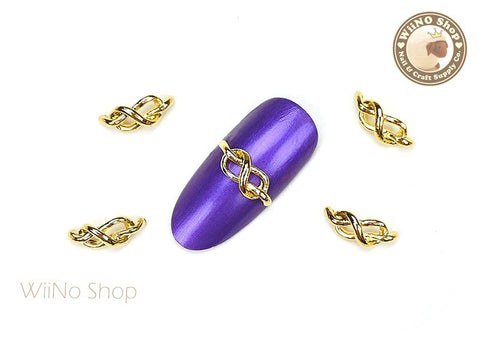 Gold Knot Nail Metal Charm - 2 pcs