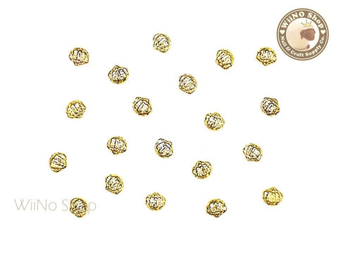 Gold Mini Cockle Seashell Metal Studs - 10 pcs