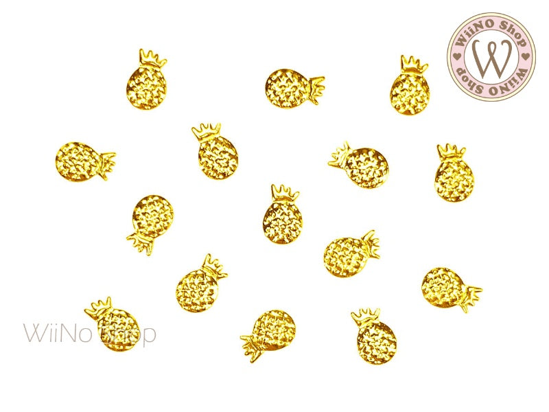 Gold Pineapple Metal Studs (4x6/5x8mm)