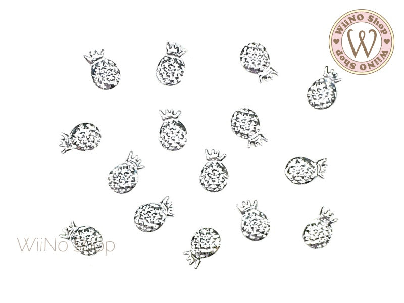 Silver Pineapple Metal Studs (4x6/5x8mm)