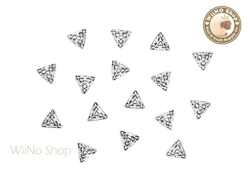 Silver Pyramid Block Metal Studs - 10 pcs