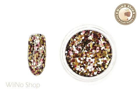 HX02 Hexagon Mixed Color Glitter