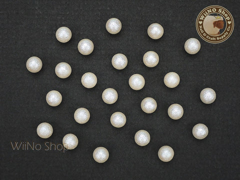 6mm Ivory Cotton Pearl Beads Nail Art Decoration (No Hole) - 10 pcs