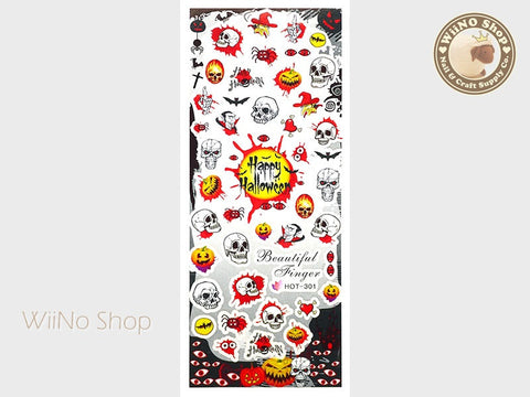 Halloween Water Slide Nail Art Decals - 1pc (HOT-301)
