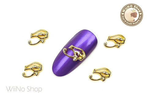 Gold Egyptian Eye Nail Metal Charm - 2 pcs