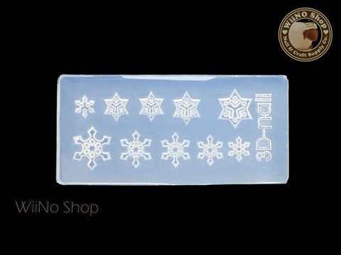 Snowflake 3D Acrylic Nail Art Mold - 1 pc (SD04)