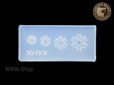 Snowflake 3D Acrylic Nail Art Mold - 1 pc (SD05)