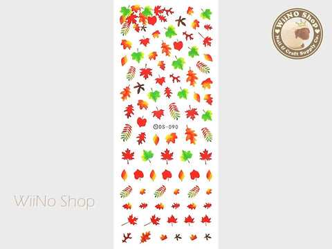 Autumn Leaves Water Slide Nail Art Decals - 1 pc (DS-090)