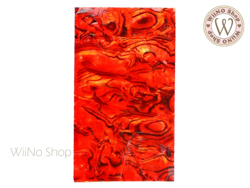 Fire Red Natural Seashell Sheet - 1 pc