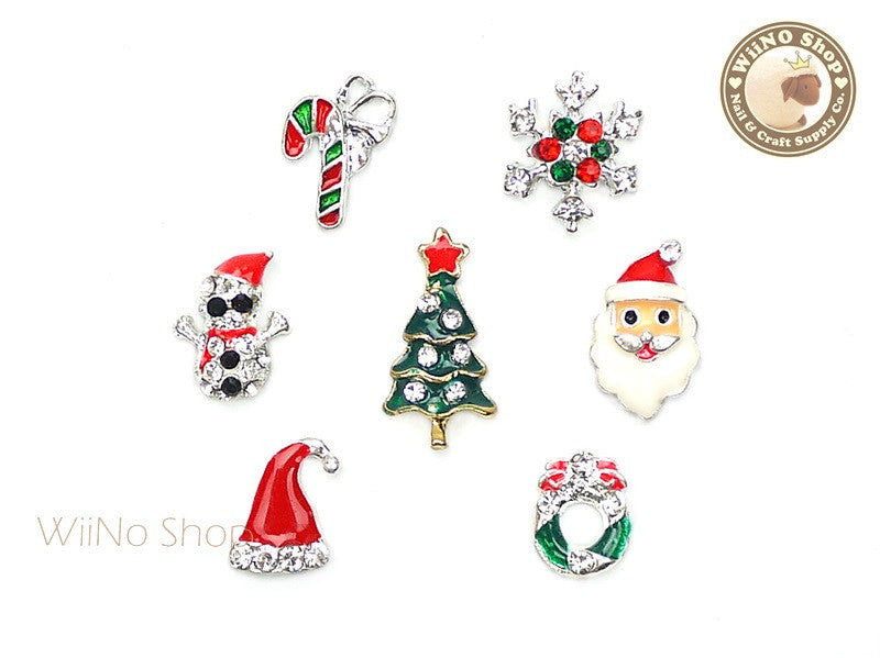 Christmas Mixed Nail Metal Charm - 7 pcs