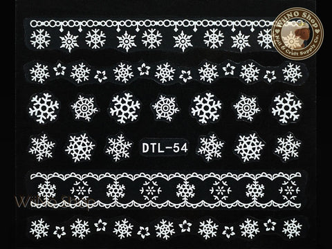White Snowflake Nail Art Sticker - 1 pc (DTL-54W)