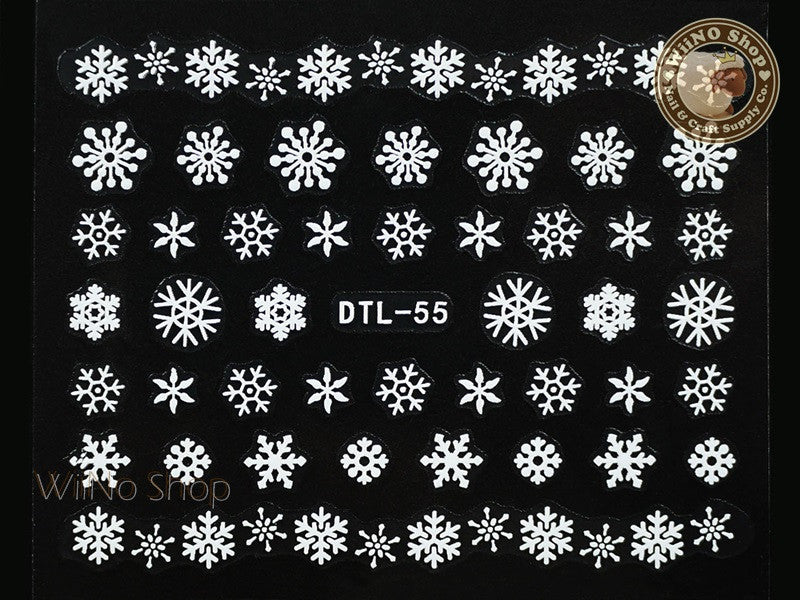 White Snowflake Nail Art Sticker - 1 pc (DTL-55W)