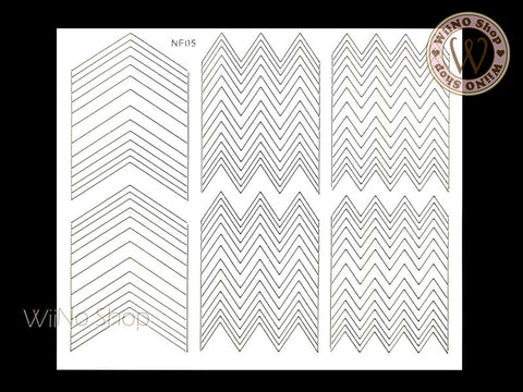 Chevron Nail Vinyls - 1 pc (NF05)