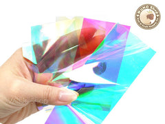 Holographic Rainbow Film Nail Art Decoration - 1 pc (1-13)