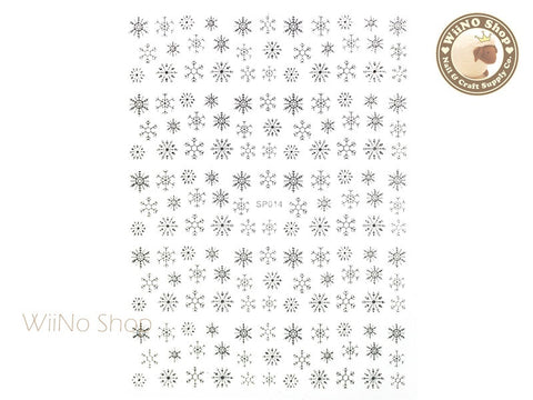 Silver Snowflake Adhesive Nail Art Sticker - 1 pc (SP014S)