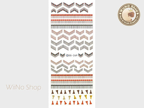 Native Tassel Pattern Water Slide Nail Art Decals - 1 pc (DS-269)