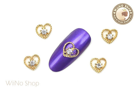 Gold Love in Heart Nail Metal Charm Nail Art - 2 pcs