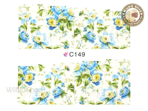 Floral Pattern Water Slide Nail Art Decals - 1 pc (C149)