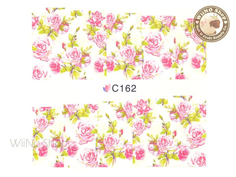 Floral Pattern Water Slide Nail Art Decals - 1 pc (C162)