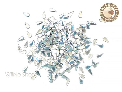 3 x 6mm Light Blue Drop Metal Studs - 100 pcs