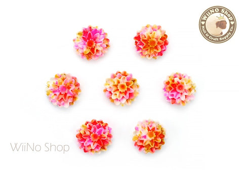 Colorful Dahlia Flower Nail Art Cabochons - 5 pcs (FD03)