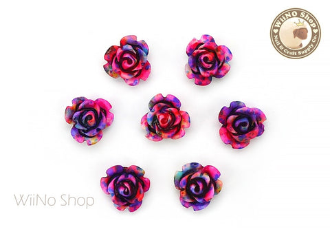 Colorful Rose Flower Nail Art Cabochons - 5 pcs (FR04)