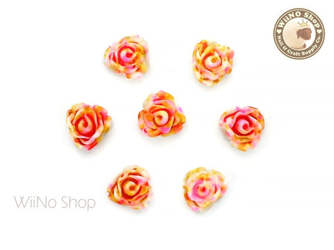 Colorful Rose Flower Nail Art Cabochons - 5 pcs (FR02)