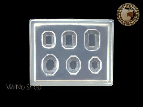 Octagon Oval Rhinestone 3D Nail Art Mold - 1 pc (PD04)