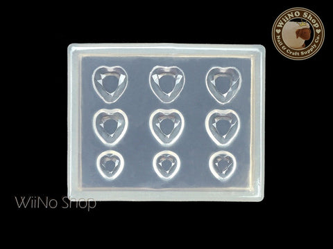 Heart Rhinestone 3D Nail Art Mold - 1 pc (PD06)