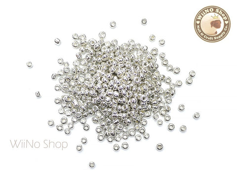 Silver Chrome Glass Beads
