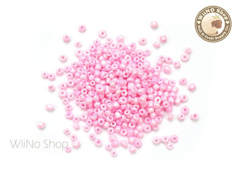 Shimmer Pink Glass Beads