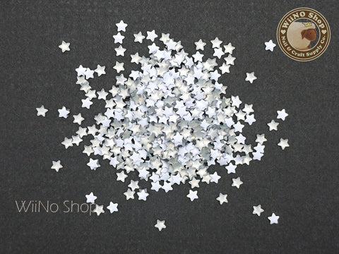 3mm White Star Metal Studs - 100 pcs