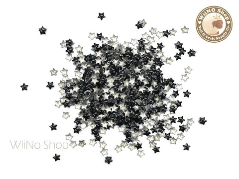3mm Black Star Metal Studs - 100 pcs