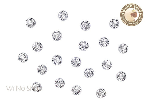 6mm Silver Cannage Pattern Round Metal Studs - 10 pcs