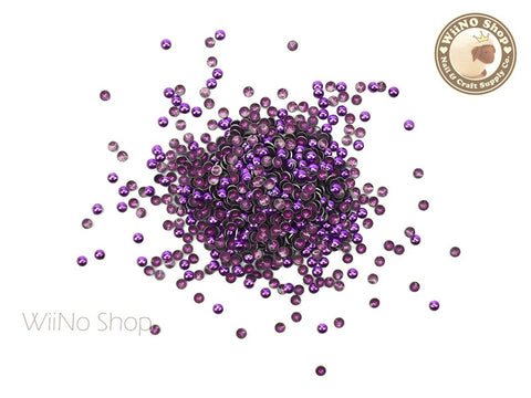 2mm Purple Round Dome Metal Studs - 100 pcs