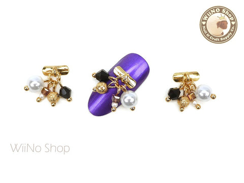 Pearl Jewel Nail Art Dangle Charm - 2 pcs
