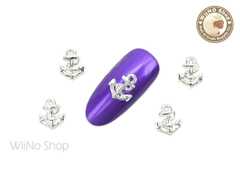 Silver Anchor Nail Metal Charm - 2 pcs (CAN05S)