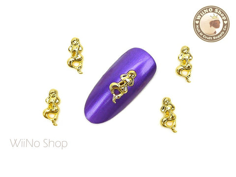 Gold Mermaid Nail Metal Charm - 2 pcs (MM03G)