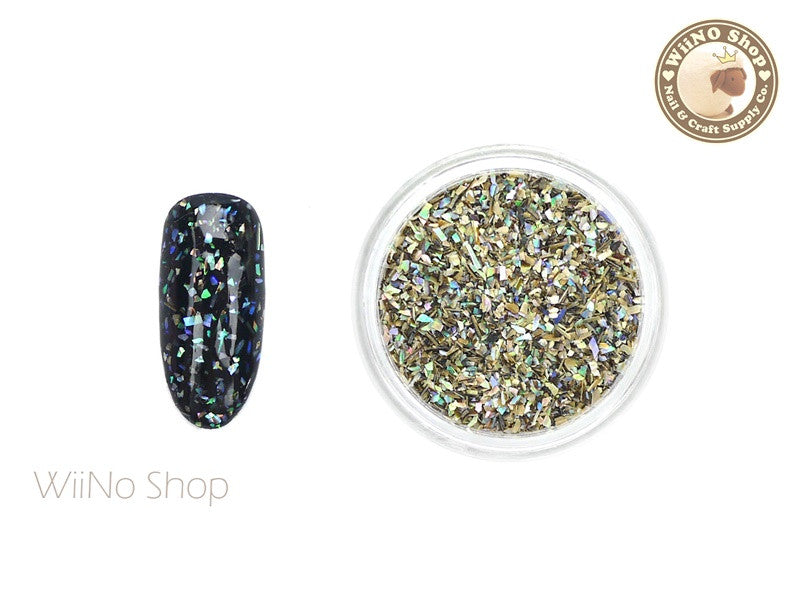 Natural Abalone Fine Crushed Shell Nail Art Decoration