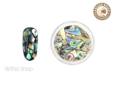 Natural Abalone Crushed Shell Chips Nail Art Decoration