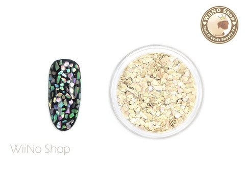 Natural Ivory Abalone Small Crushed Shell Nail Art Decoration