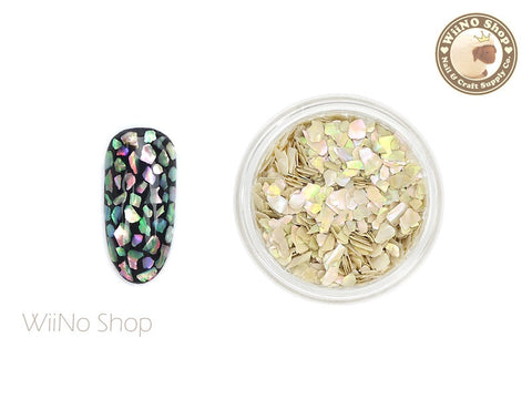 Natural Ivory Abalone Medium Crushed Shell Nail Art Decoration
