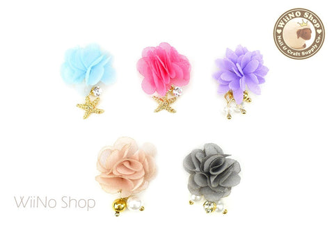 3D Flower Magnet Nail Art Dangle Charm