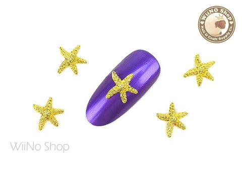 Large Starfish Nail Metal Charm - 2 pcs