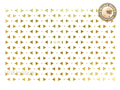 Gold Triangle Adhesive Nail Art Sticker - 1 pc (G-35)