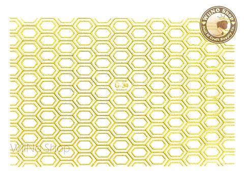 Gold Hexagon Pattern Adhesive Nail Art Sticker - 1 pc (G-34)